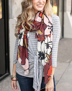 Fall Floral Scarf by Grace & Lace