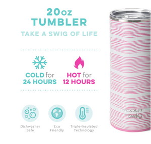SWIG 20 oz Stainless Steel Insulated Tumbler - Wavy Love