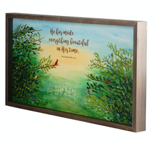 Load image into Gallery viewer, He Has Made Beautiful - Red Bird Wood Frame Art Print