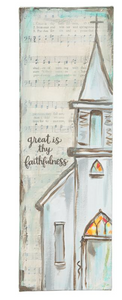 "Great is Thy Faithfulness 4"" X 12"" Canvas"