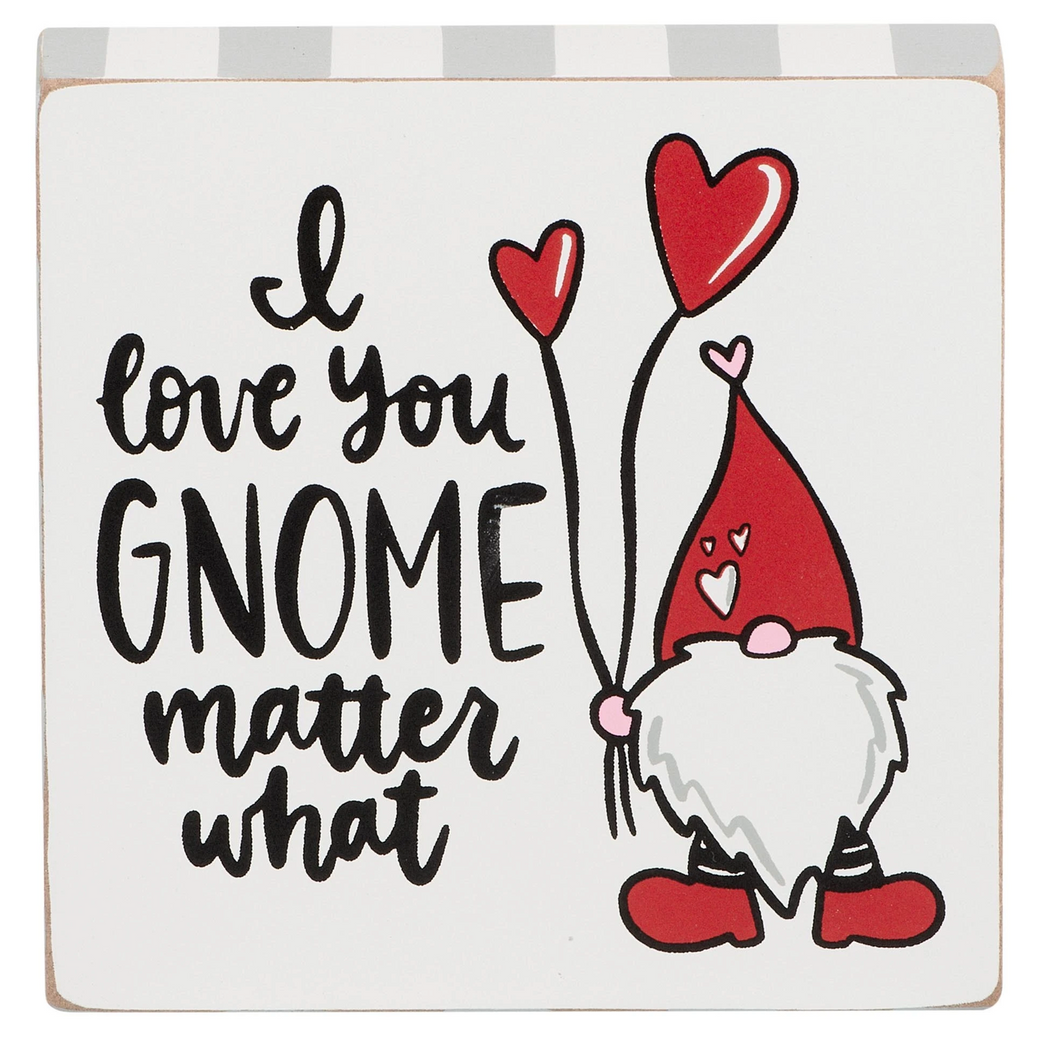 I love you - Gnome Block Canvas