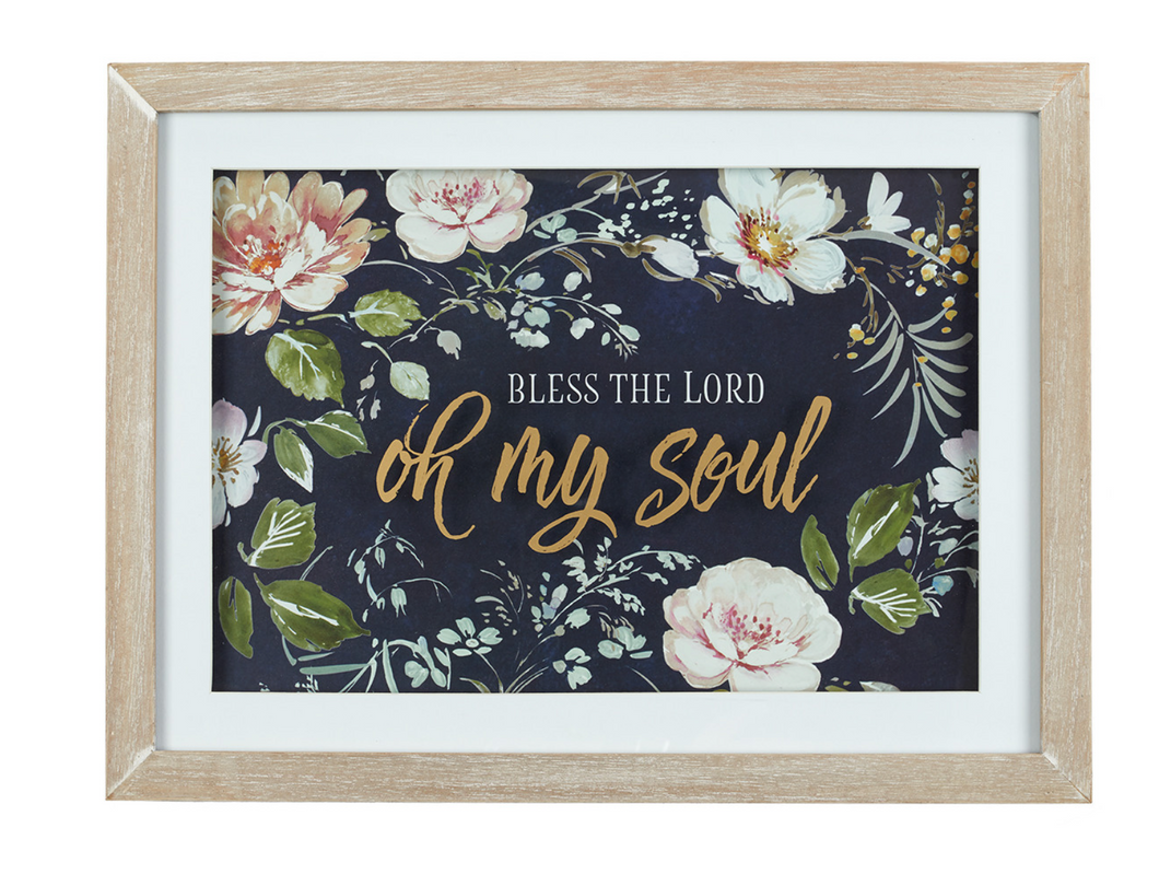 Bless the Lord Oh My Soul Wall Plaque-Psalm 103:1