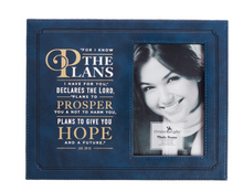 Load image into Gallery viewer, For I Know the Plans-Jeremiah 29:11 Photo Frame