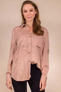 Star Patch Tencel Button-Down