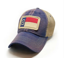 Load image into Gallery viewer, North Carolina Flag Patch Trucker Hat - Navy