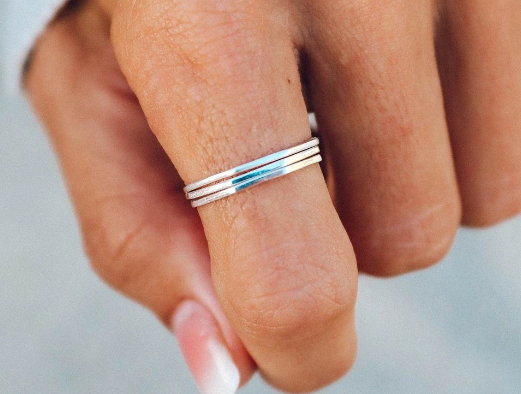 Pura Vida Delicate Stacked Rings - Gold or Silver