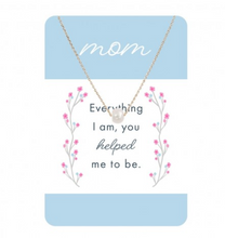 Load image into Gallery viewer, Gold & Dainty Pearl Necklace w/ Mom Card