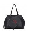 Load image into Gallery viewer, Deluxe Shoulder Tote w/ Wristlet - Black