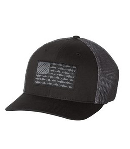 Columbia - PFG Fish Flag Mesh - Flex Fit Hat- Black