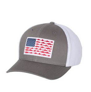 Columbia - PFG Fish Flag Mesh - Flex Fit Hat - Titanium