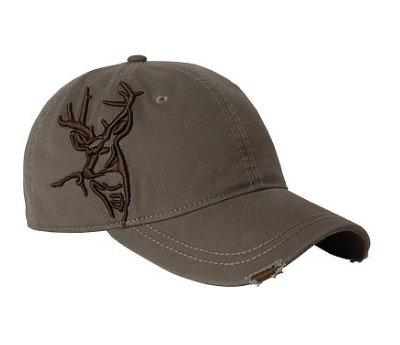 3D Buck Hat- Distressed