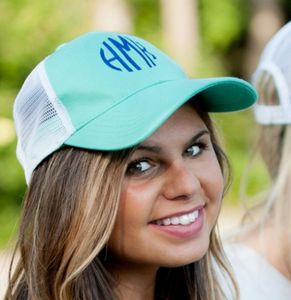 Monogrammed Trucker Hat - Multiple Color Options {Includes Monogram}