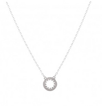 Load image into Gallery viewer, Silver Sunburst Color Me Happy Necklace & Keepsake Card