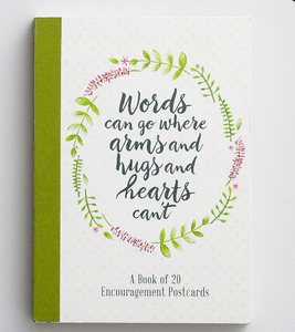 Words of Encouragement Postcard Book