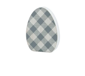 Gray Check Egg Cut Out