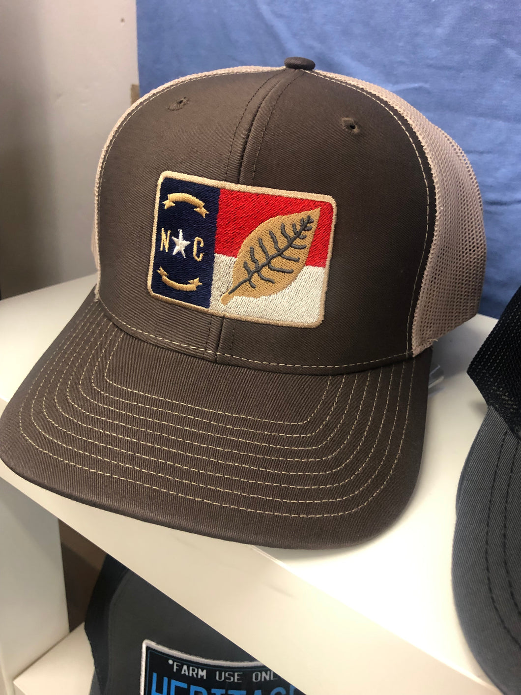 North Carolina Flag/Tobacco Leaf Hat