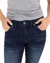 Load image into Gallery viewer, Non-Distressed Patch Pocket Waist Shaper Jeggings by Grace & Lace