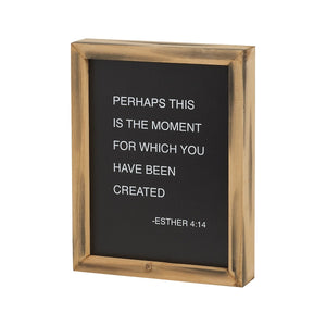 This is the Moment - wooden boxes sign