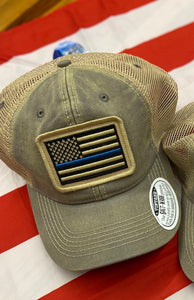 Thin Blue Line Mesh Cap