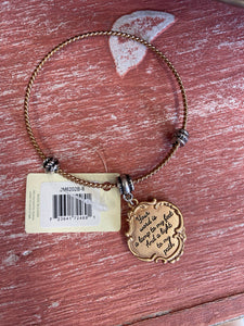 Your word is a Lamp Unto my Feet~ Double-Sided Charm Bracelet