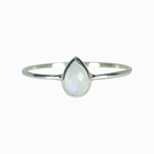 Teardrop Moonstone Ring - Pura Vida