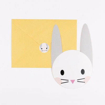 8 invitations mini lapin