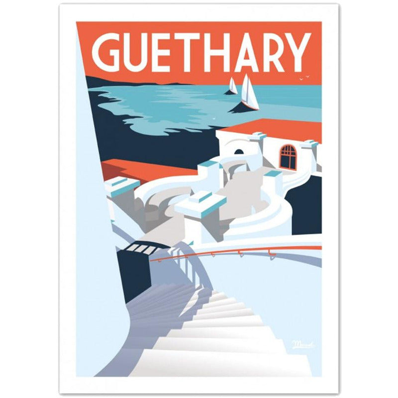 Affiche Guethary - 30 x 40 cm - Marcel