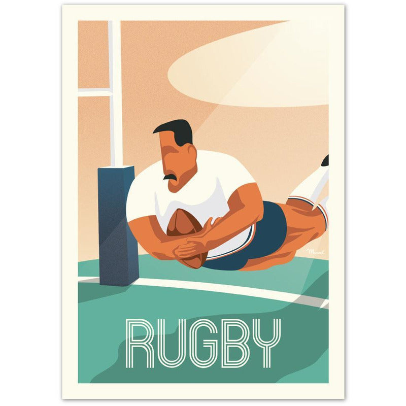 Affiche Rugby - 30 x 40 cm - Marcel