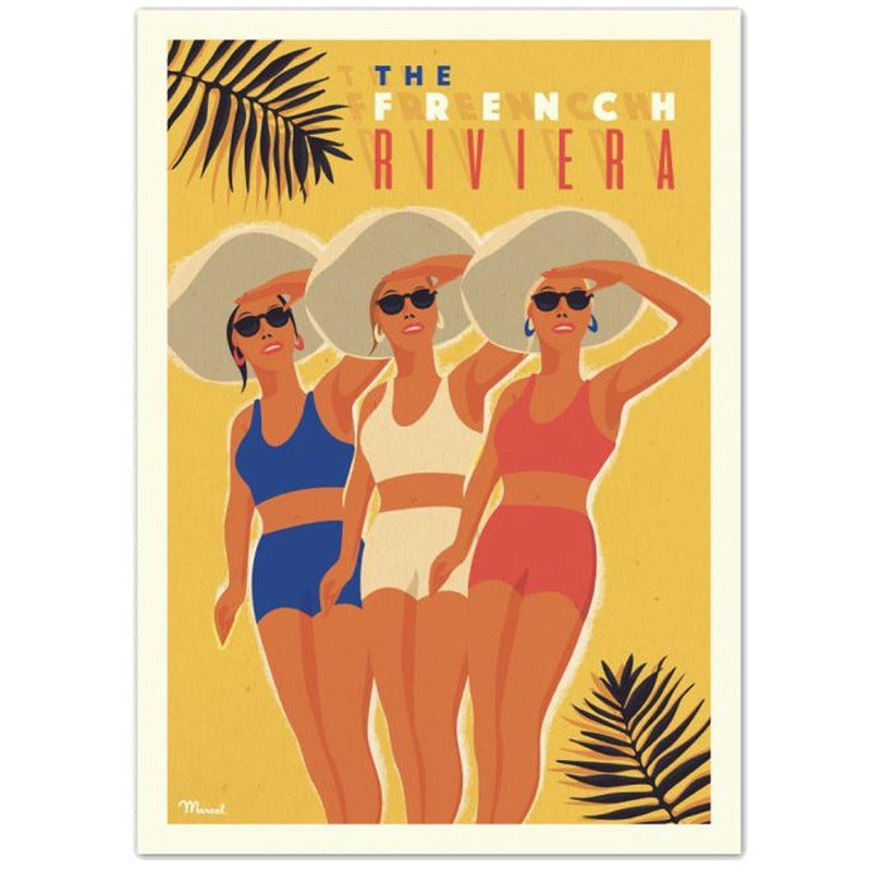 Affiche The French Riviera - 30 x 40 cm - Marcel