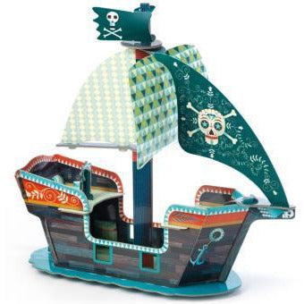 Pop to play - Bateau Pirate 3D - Djeco