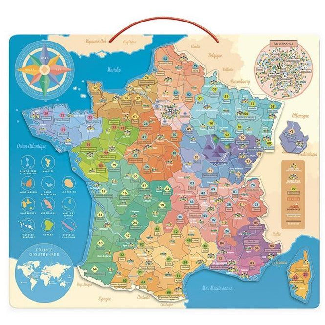 Carte de France éducative - Vilac