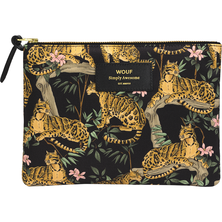 Pochette Black Lazy Jungle Large - WOUF