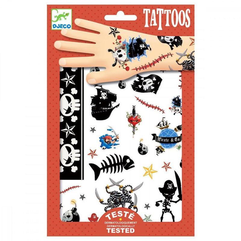Tatouages - Pirates - Djeco