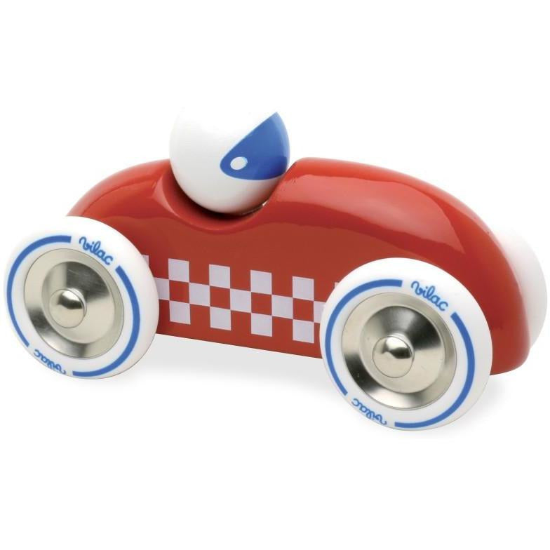 Voiture rallye checkers GM rouge - Vilac