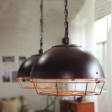 Load image into Gallery viewer, Black Bird Cage industrial pendant lamp for hotel, restaurant & homes