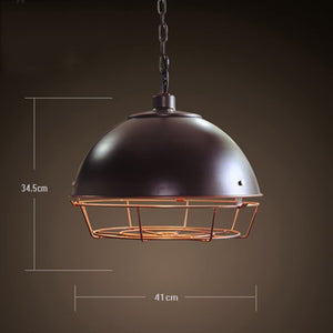 Black Bird Cage industrial pendant lamp for hotel, restaurant & homes