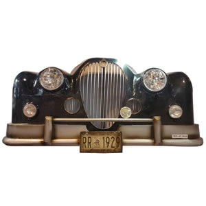 Black Jaguar Vintage Car Wall Decor With Headlights