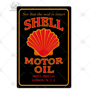 Retro Design Motor Oil Metal Tin Signs Garage, Decor Plaque, Man Cave, Bar, Pub, Gas Station, Decoration