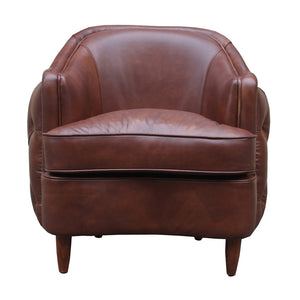 Antique Brown Leather Club Chair