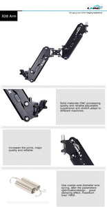 LAING M30PII Heavy Duty Carbon Fiber Handheld DSLR Video Camera Stabilizer