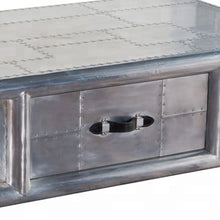 Load image into Gallery viewer, Aviation Aluminium Coffee Table With Drawer