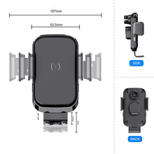 Load image into Gallery viewer, 2020 New Design Technology Fast Charging 15W 10W Auto Clamping Wireless Car Charger