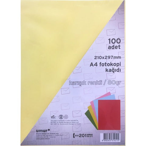 Colour Paper Set 100 - Letra me ngjyra