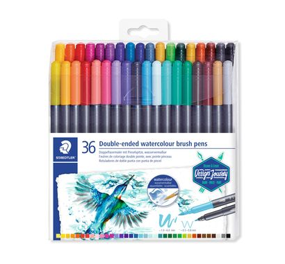 Staedtler Double-ended watercolour brush pen 3001 TB36