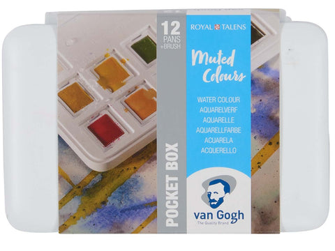 Van gogh PocketBox Muted Colours 12pans