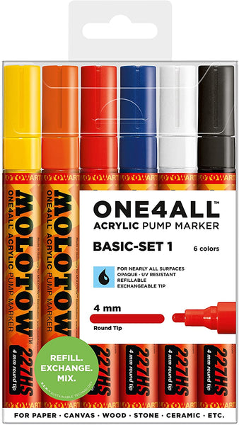 Molotow Acrylic Marker 4mm 1/6 set 200.453
