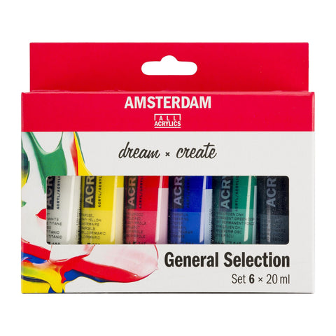 Amsterdam Acrylic Set General Selection 6x20ml