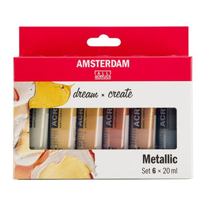 Amsterdam Acrylic Metallic Set 6x20ml