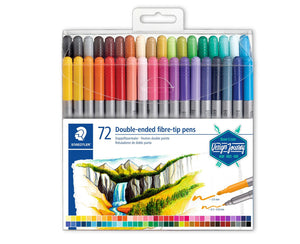 Staedtler Double-ended fibre-tip pen 72pcs
