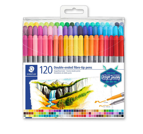 Staedtler Double-ended fibre-tip pen 120pcs